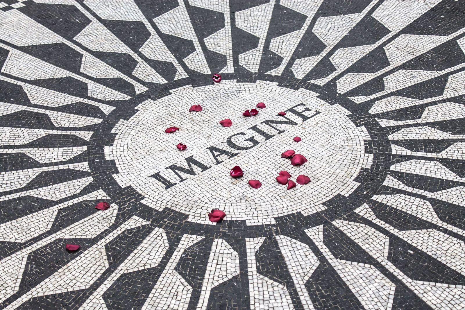 "Professional Career Transitions - Photo of ""Imagine"" tiles in John Lennon memorial in Central Park"